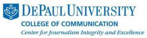 DePaul College of Communication Center for Journalism Logo