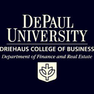 DePaul Driehaus College of Business Department Of Finance Logo